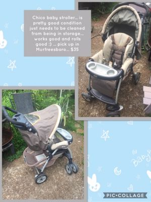 Chico baby stroller... is pretty good condition just needs to be cleaned from being in storage... works good and rolls good :) ... pick up in Murfrees for Sale in Murfreesboro, TN