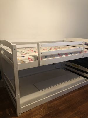 twin size bunk bed with ladder and slide for Sale in Washington, DC