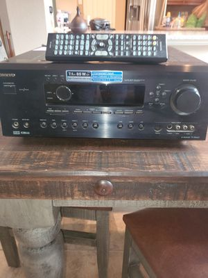 Onkyo receiver 7.1 surround with remote, barely used for Sale in Argyle, TX