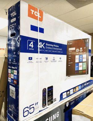 "65"" TcL roku smart 4K led uhd hdr tv for Sale in Menifee, CA"