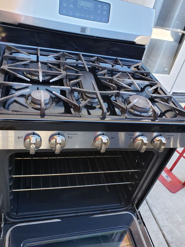 Kenmore stove and microwave