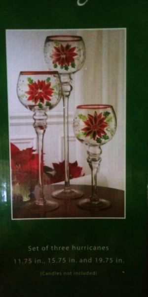 Christmas candle holders for Sale in Winchester, VA