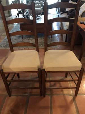 Ladder back antique chairs for Sale in Miami, FL