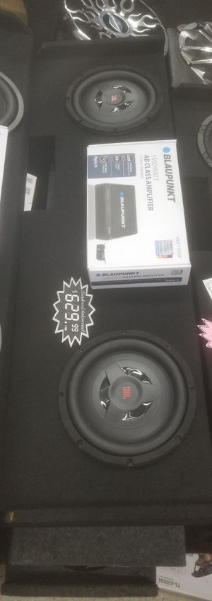 """JBL 10"""" Shallow Mount Subwoofer System w/ 1500w Amp, Wiring & Free Installation for Sale in North Las Vegas, NV"""