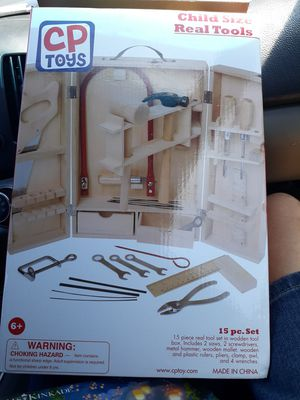 Cp toys kids REAL TOOLS 15 pieces with tool case 25$ for Sale in Orangevale, CA