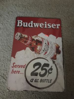 Budweiser 25 cents sign new for Sale in Lexington, SC