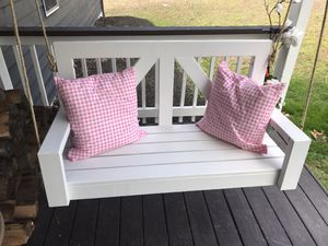 Porch Swing - White for Sale in Ashburn, VA