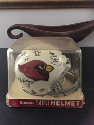 ARIZONA CARDINALS ENTIRE FOOTBALL TEAM SIGNED HELMET YES ( Larry Fitzgerald and Anquan Boldin ) for Sale in Rockville, MD