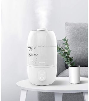 iTvanila Ultrasonic Cool Mist Humidifier,Humidifiers for Bedroom Baies Air Humidifier 2.7L Water Tank, Auto-Off,Lasts to 12-28 Hours (Milky) for Sale in Miami, FL