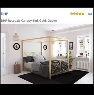 Queen Canopy bed for Sale in Riverbank, CA