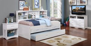 Twin Bookcase Daybed, Twin Trundle, 3-Drawers or 6-Drawers for Sale in Arlington, TX