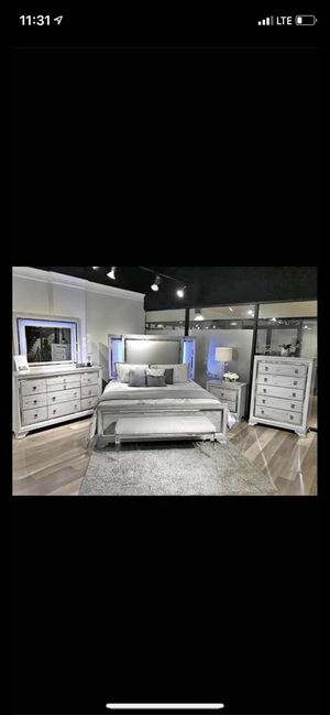 Brand new LED bedroom set on sale $1799 we finance and deliver ! for Sale in Queens, NY