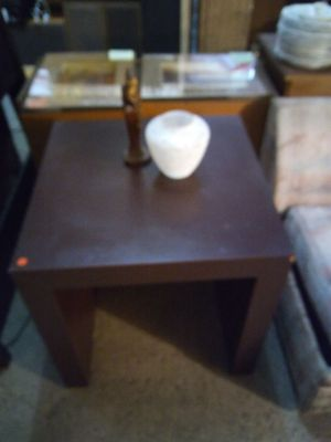 Vintage Brown Cube Living Room End Table - ONLY $35 or make an offer for Sale in Detroit, MI