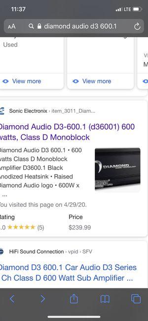 Diamond audio for Sale in Turlock, CA