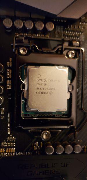 Intel i7 7700 3.6-4.2ghz lga 1151 7th gen for Sale in Billings, MT