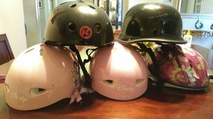 Kids bike/roller blade skate helmets for Sale in Las Vegas, NV