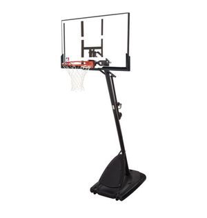 """Spalding NBA 54"""" Portable Angled Basketball Hoop with Polycarbonate Backboard for Sale in Tacoma, WA"""