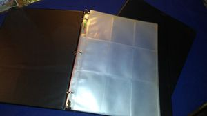 Two binders with 30 pages each for baseball and Pokemon cards $3 for both for Sale in Garland, TX