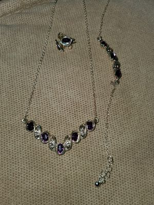 Matching necklace, bracelet, and earrings. for Sale in Evergreen, CO