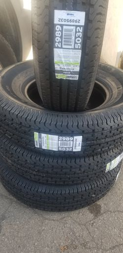 new trailer tires ST235/80/16 $105 each mounting included for Sale in Aurora,  IL