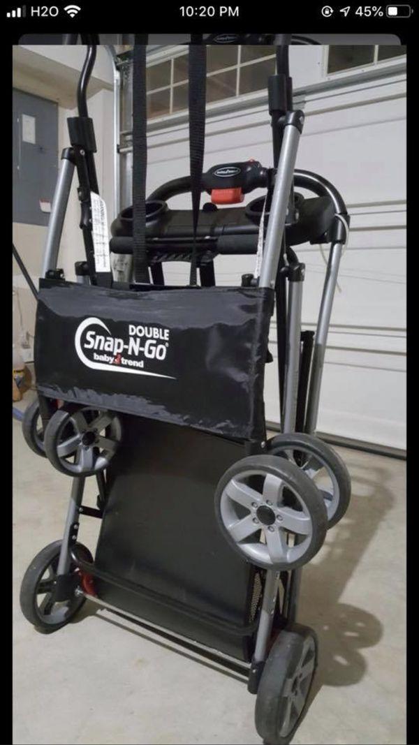 Double carseats stroller snap n go