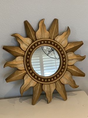 Gold sun wall decor/mirror for Sale in Corona, CA