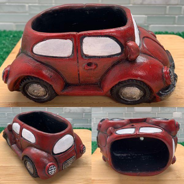 Retro Car Planter (Red Car)