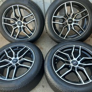 16 inches rims Gloss black Wheels 5 lugs 5x120 bolt pattern fif on other cars too for Sale in Riverside, CA