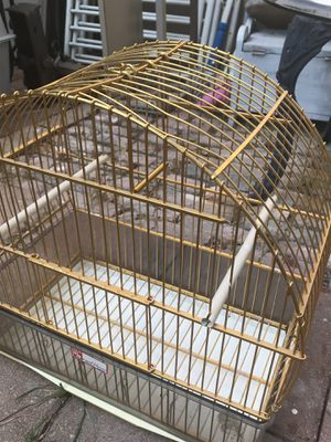 "Gold Metal Bird Cage for Birds 16"" x 9""x16""H. $24 for Sale in Euless, TX"