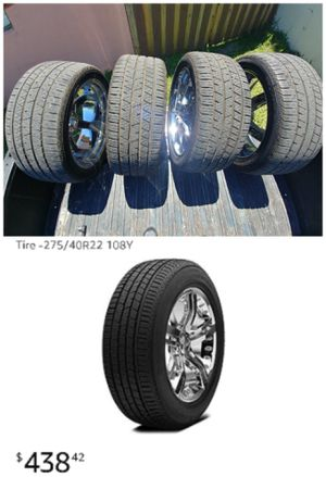 22 inch Continental tires with wheels for Sale in Miami, FL