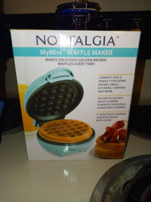 Nostalgia mini waffle maker for Sale in Columbia, MO