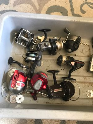 mix brand all good fishing reels allso please see my page for Sale in Fresno, CA