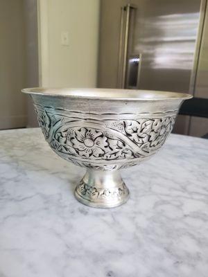 Pedestal Planter Flower Pot Urn Scrolled Metal Floral for Sale in Washington, DC