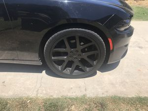22 inch black rims for Sale in Whittier, CA