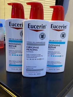 Eucerin Intensive Repair Lotion And Original Healing $8 Each for Sale in Los Angeles,  CA