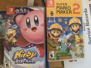 Nintendo switch Kirby and Mario maker 2 for Sale in Gardena, CA