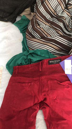 Balmain jeans Paris red size 32 real deal $200 for Sale in Atlanta, GA