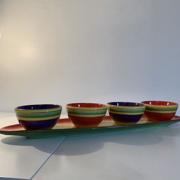 "Laurie Gates ""Sombrero"" serving set"