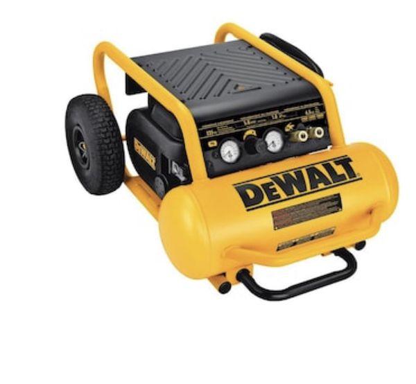 Dewalt 4.5 gallon portable electric horizontal air compressor. Model number- D55146