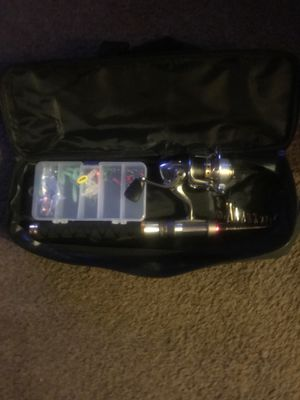2 Brand new fishing poles never used with carrying case for Sale in HOFFMAN EST, IL