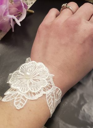 Unique statement white flower lace bracelet cuff for Sale in Nashville, TN
