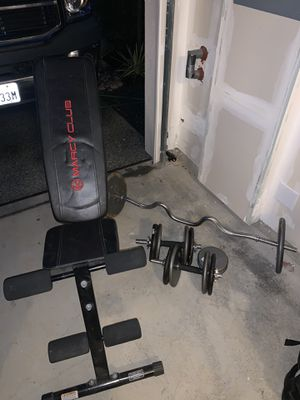 Adjustable bench/Bars/Plates for Sale in Snohomish, WA