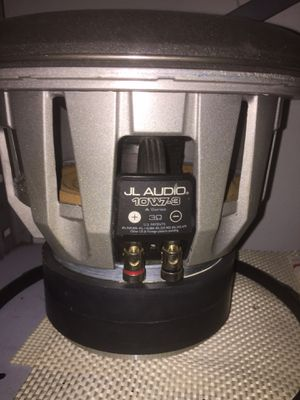 Jl audio 10w7 subwoofer 200$ firm for Sale in Stockton, CA