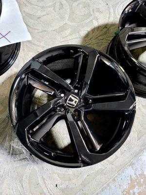 2020 Honda accord all 4 rims gloss black new original rims with center caps for Sale in Huntington Beach, CA