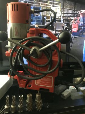 Milwaukee Mag drill with bits & Chuck adapter. 700 for Sale in Chicago, IL