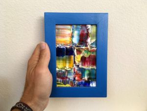 Micro Painting By PMS Artwork - One Of A Kind - Original Oil Painting for Sale in Los Angeles, CA