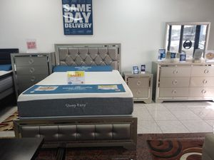 Jasmine silver bed sets.. Available in queen and king..Starting at $799.00 for Sale in Tampa, FL