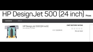 "DesignJet 500 (24"") for Sale in Poway, CA"