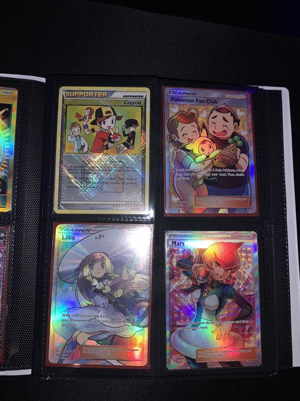 Pokemon cards. Secret Rares, Full arts, rainbow rares, and normal gx