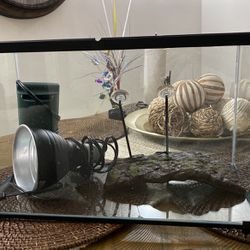 Fish Tank ,light ,filter And The Stand for Sale in Clifton,  NJ